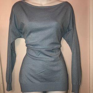 Mohito baby blue zipper back sweater